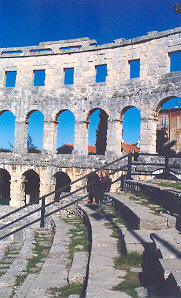 Roman ampitheatre at Pula