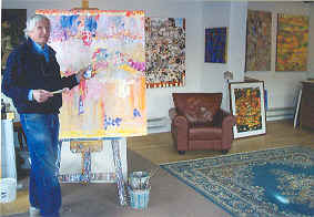 Pierre Delattre at his Gallery & Studio