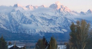 The Grand Teton at sunrise
